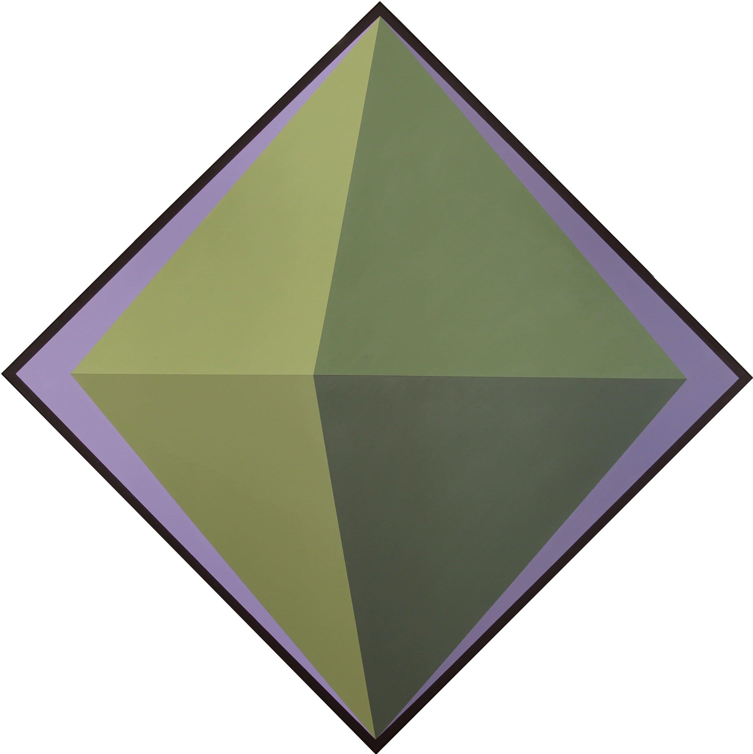The Green Octahedron, Acrylic Paint on Canvas, 2019
