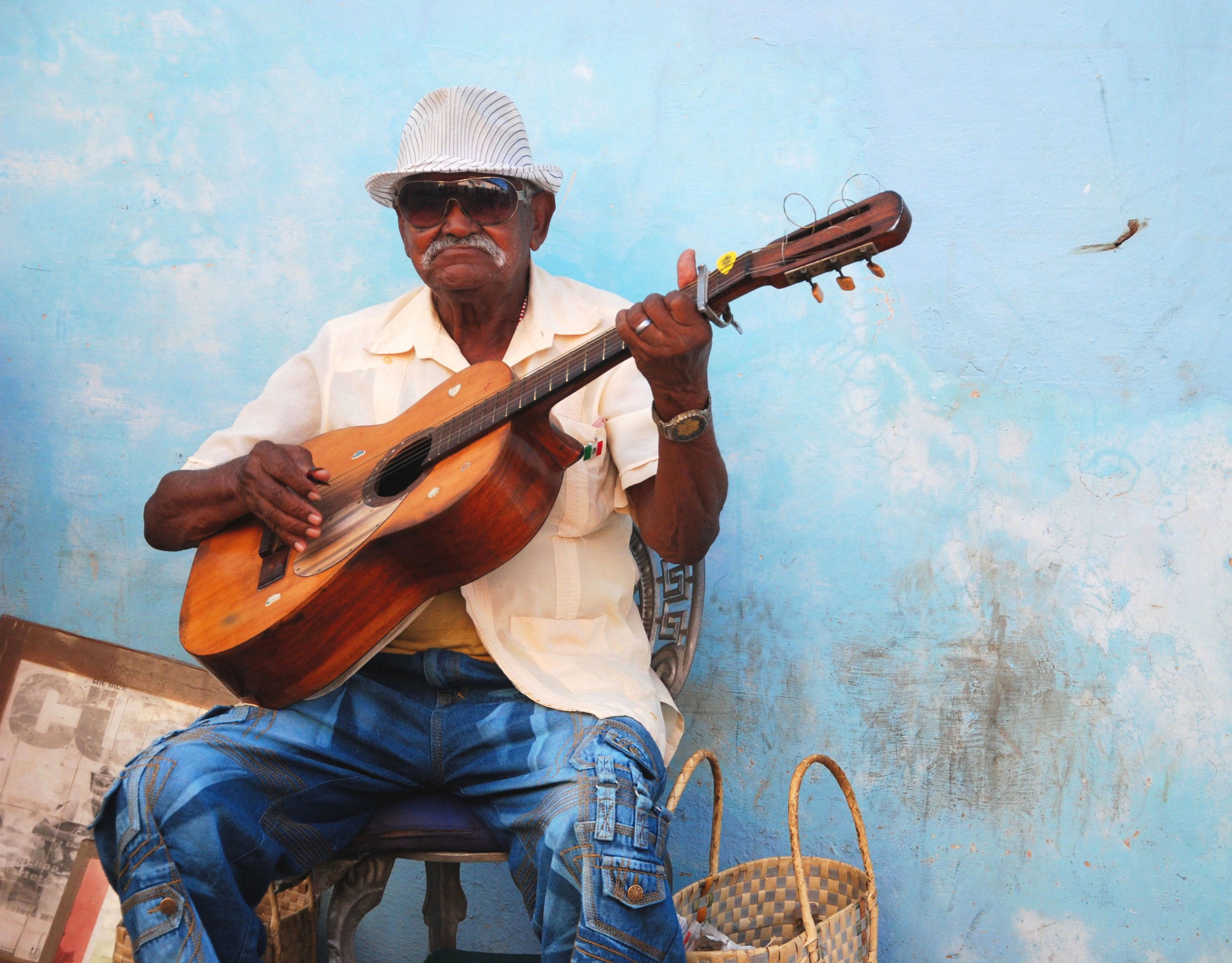 Simon, Guitar Player, Trinidad, Papercut.jpg