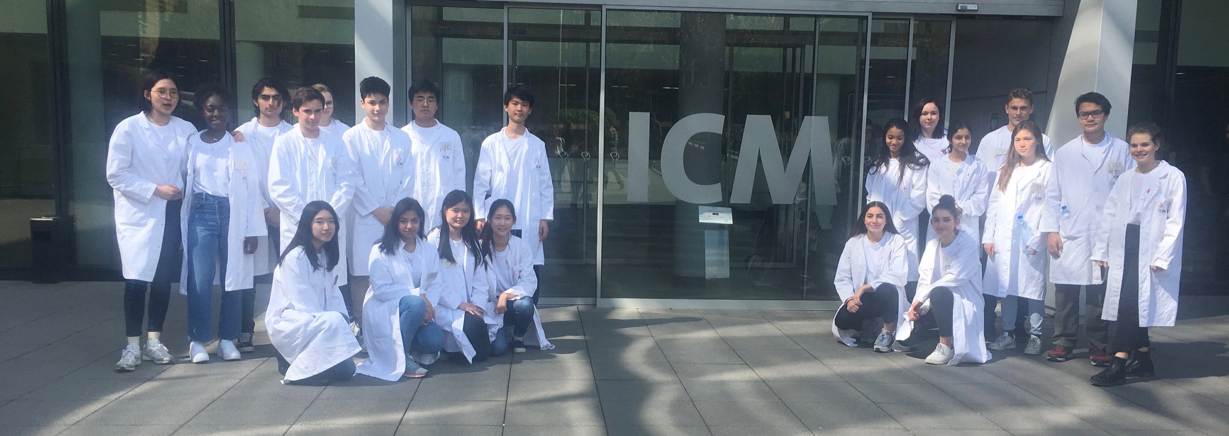 2019 France Brain Bee participants taking a break during the competition at ICM Brain and Spine Institute, 6 April 2019. Thanks ICM for hosting and sponsoring!