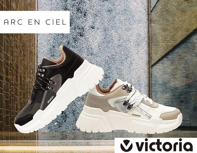 NOUVEAUTÉS !  VictoriaShoes associe pour cette saison différents matériaux sur une grosse plateforme pour donner un style unique ! - - - - #shoes #sneakers #victoria #new #collection #femme #woman #winter #original #aec #arc-en-ciel #love #nice #instagram #insta #girls #shop #💯