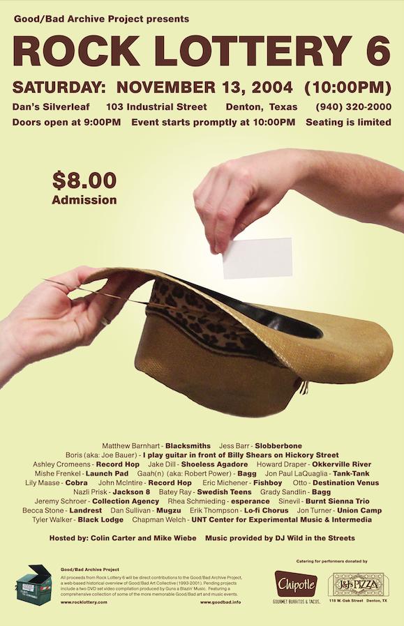 Rock Lottery 6 Flyer