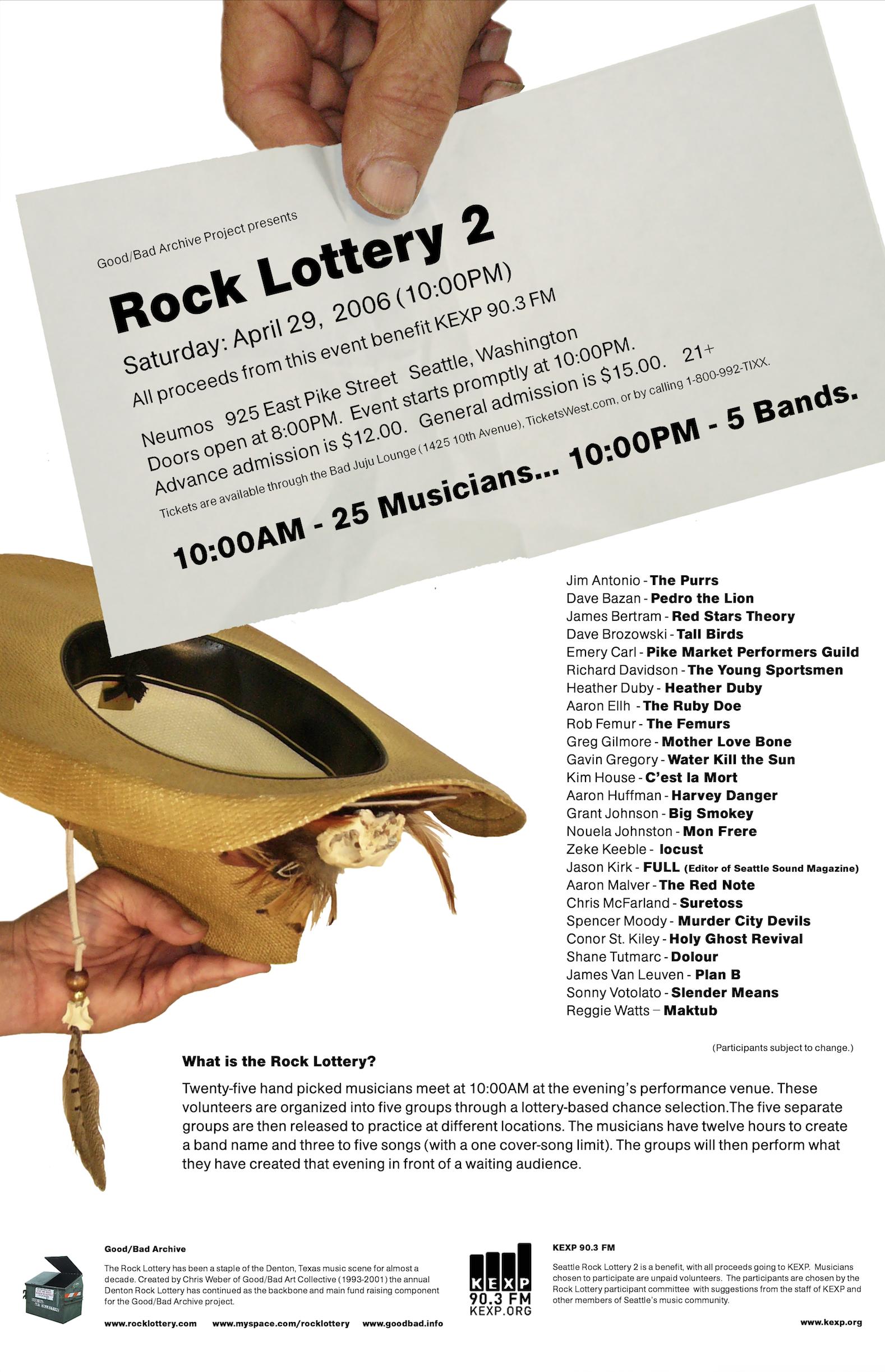 Seattle Rock Lottery 2 Poster