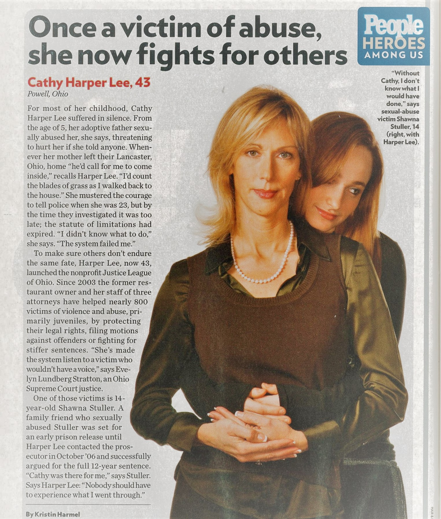 People Magazine: Heroes Among Us - 2008 - Cathy Harper Lee was featured in People Magazine