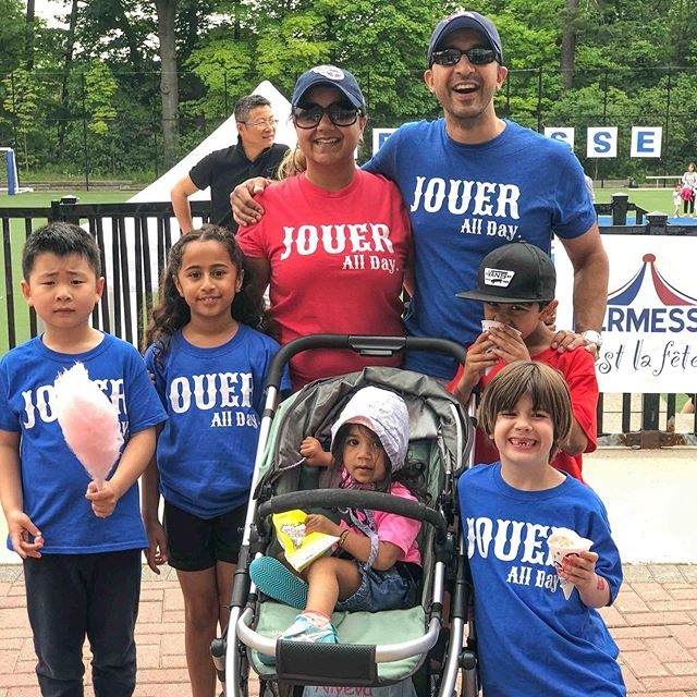 "The JOUER All Day T-shirts are back! 🖤💙❤️ Already have one? Wear it to Kermesse to show your community spirit! 🖤💙❤️ Want one? T-shirt's are $25 and will be available to purchase this week at both LPE (Monday, Wednesday at pickup) and Junior School (Tuesday, Thursday at pickup) or at the ""Kermesse Bazaar"" on June 8.  We have youth sizes XS-XL and NEW this year: toddler sizes from 2T-5T!!! 🖤💙❤️ . . . #tfsparentsassociation #tfsparents #parentsassociation #fundraiser #schoolfundraiser #tshirtfundraiser #jouerallday #tfskermesse #kermesse #funfair #schoolfunfair"