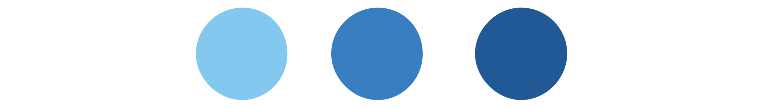 3 blue dots