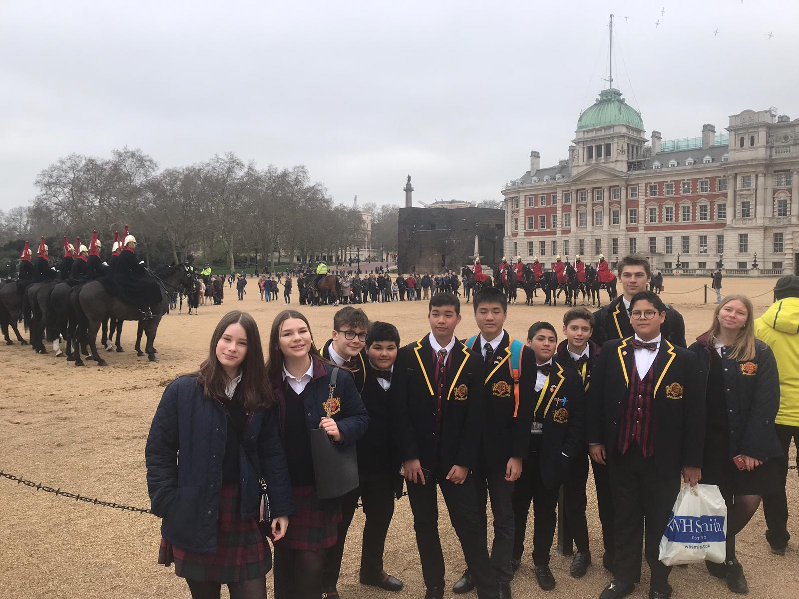 Our Students love a good day out .. Watching the Trooping Of The Colour!