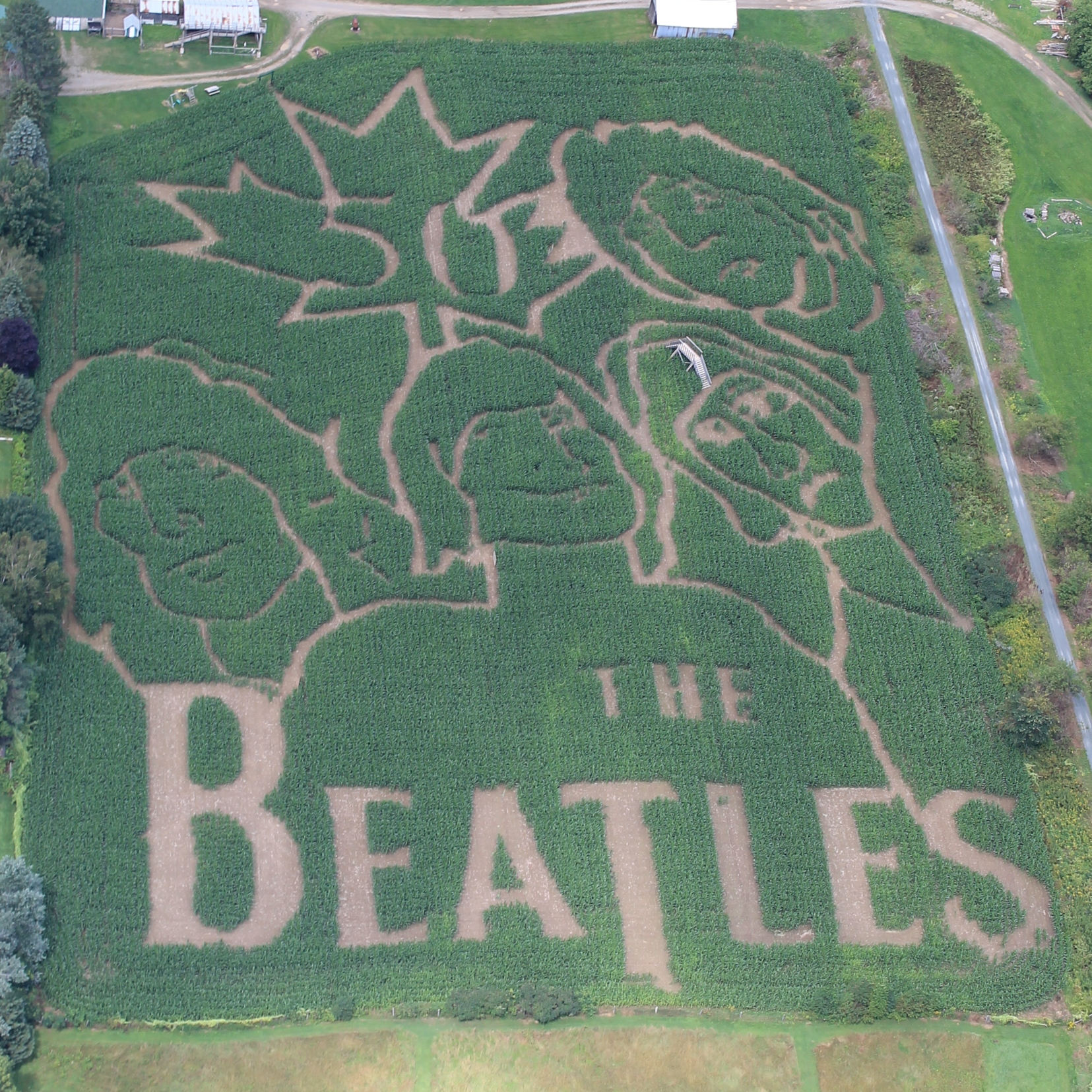 2014: The Beatles  Our 2014 maze celebrated 50 years since the Beatles first arrived in Canada.