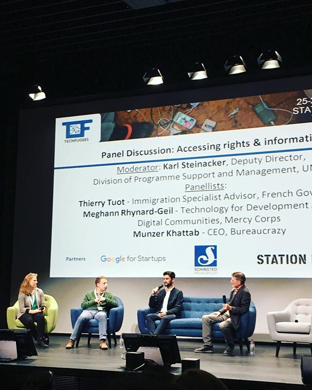 @bitaetech invited to @techfugees global summit. Today attending workshops on accessing rights and information, AI, and data protection and privacy📊 Tomorrow picthing with amazing teams.💡#stationf