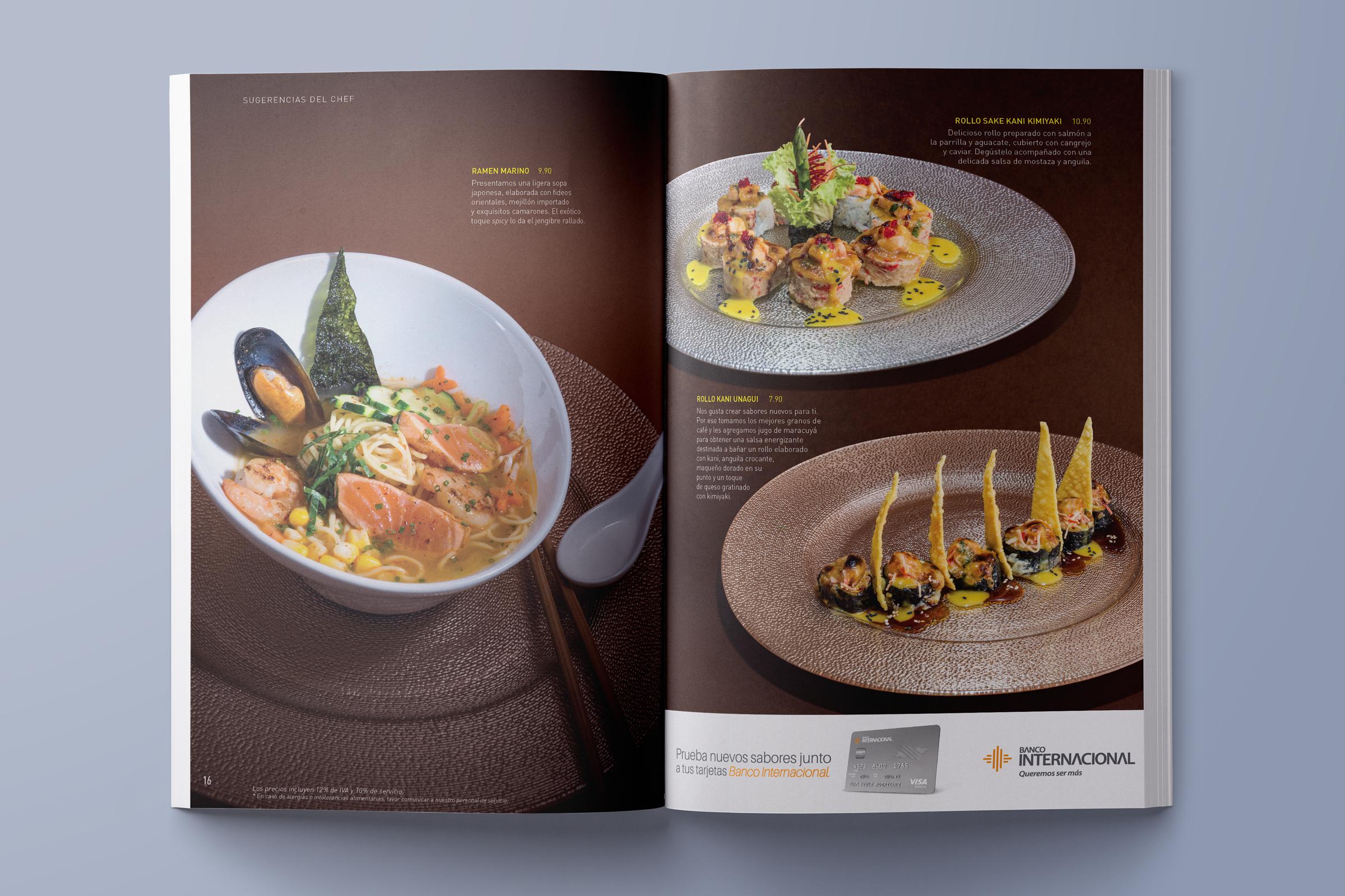 Noe Menu Magazine