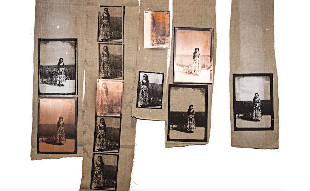 Manal Al Dowayan - The Girls (5 pieces) | Canvas, copper, string | 24 79, 22 x 96, 16 x 61, 20 x 73, 22 x 74 cm | 2015