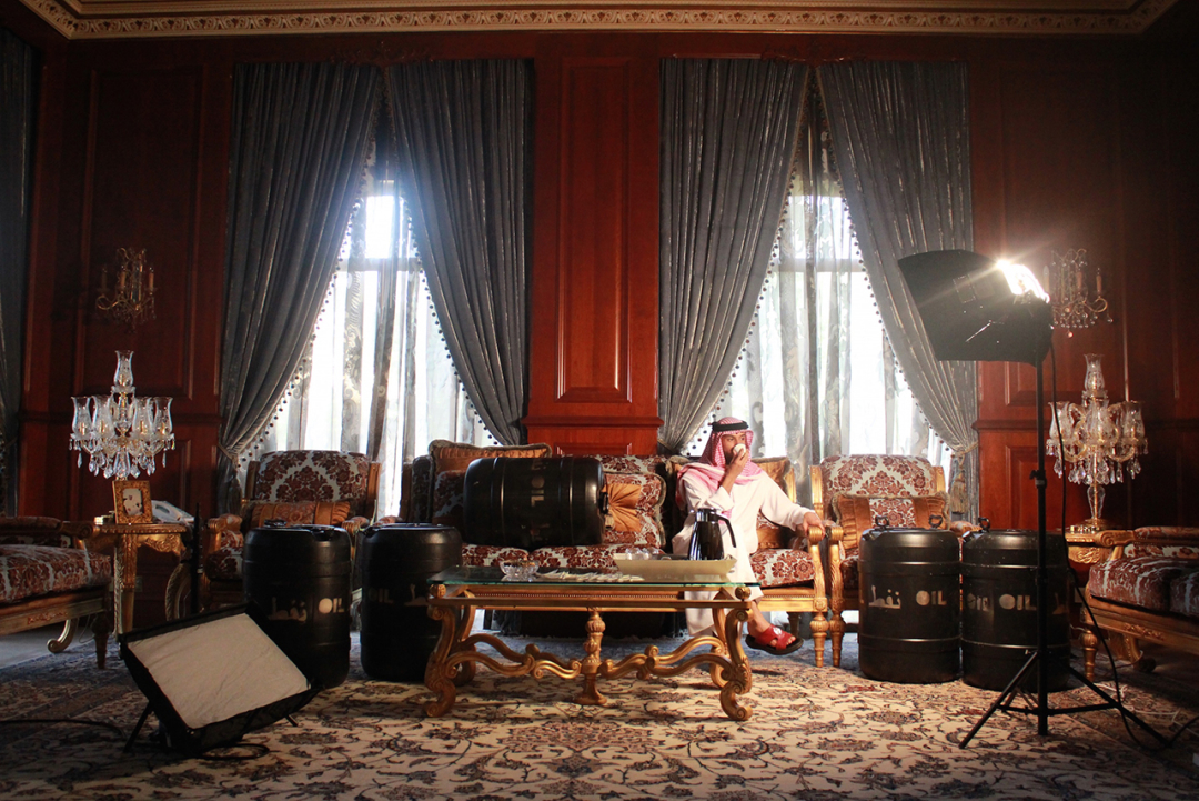 Sara Alahbabi - He Owns So Much Oil, 2016 | 90cm x 60 cm