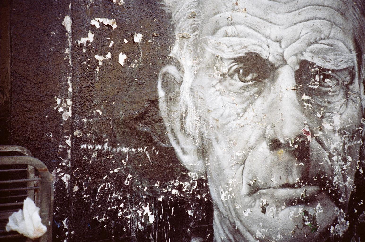 Samuel Beckett mural by Alex Martinez | Location: Notting Hill, London | Photo by Hind Mezaina