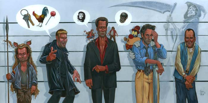 Usual Suspects by Augie Pagan. Inspired by The Usual Suspects.