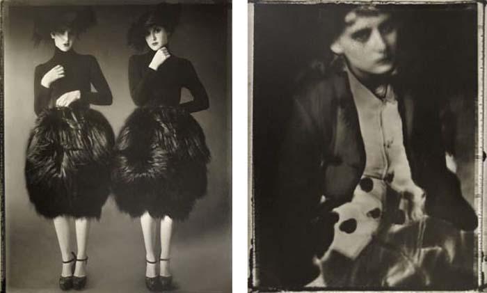 © Sarah Moon Left: Avril pour Alaia, 2006 Right: Audrey pour Comme des Garcons, 1998