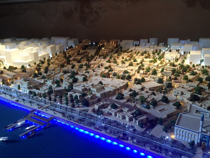 Model of what the new Heart of Sharjah will look like in 2025