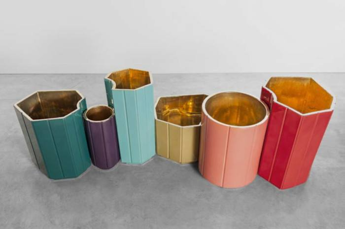 Landscape series 2 by India Mahdavi (2013) | Material: Glazed ceramic with or without pure gold interior coating