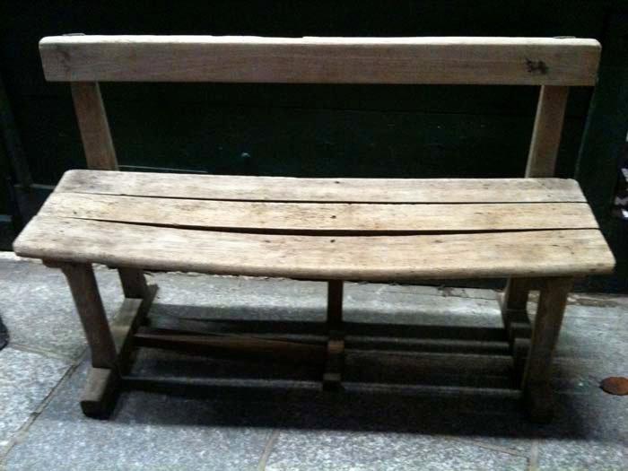 © Hind Mezaina - Outside Shakespeare and Company. An adorable bench.