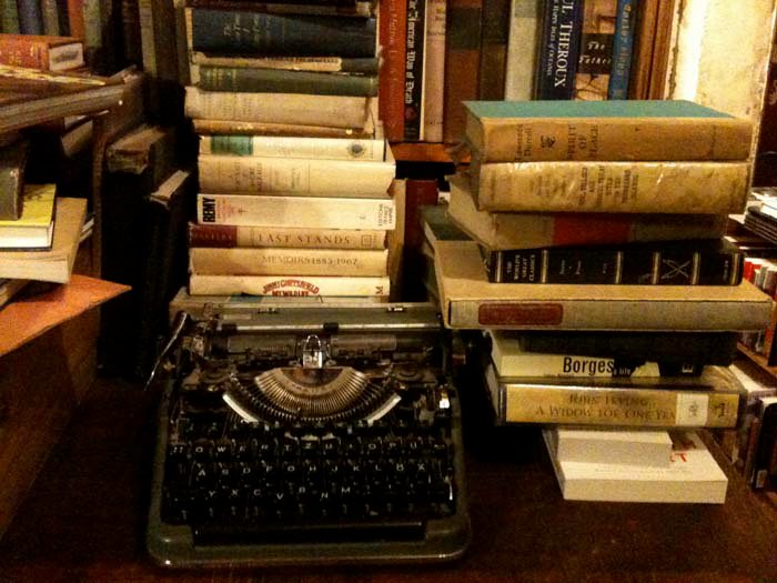 © Hind Mezaina - Inside Shakespeare and Company. One of my favourite things - vintage typewriters. They make me go weak at the knees.