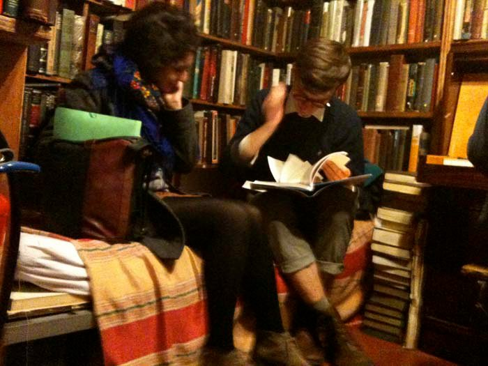 © Hind Mezaina - Inside Shakespeare and Company in the reading room.