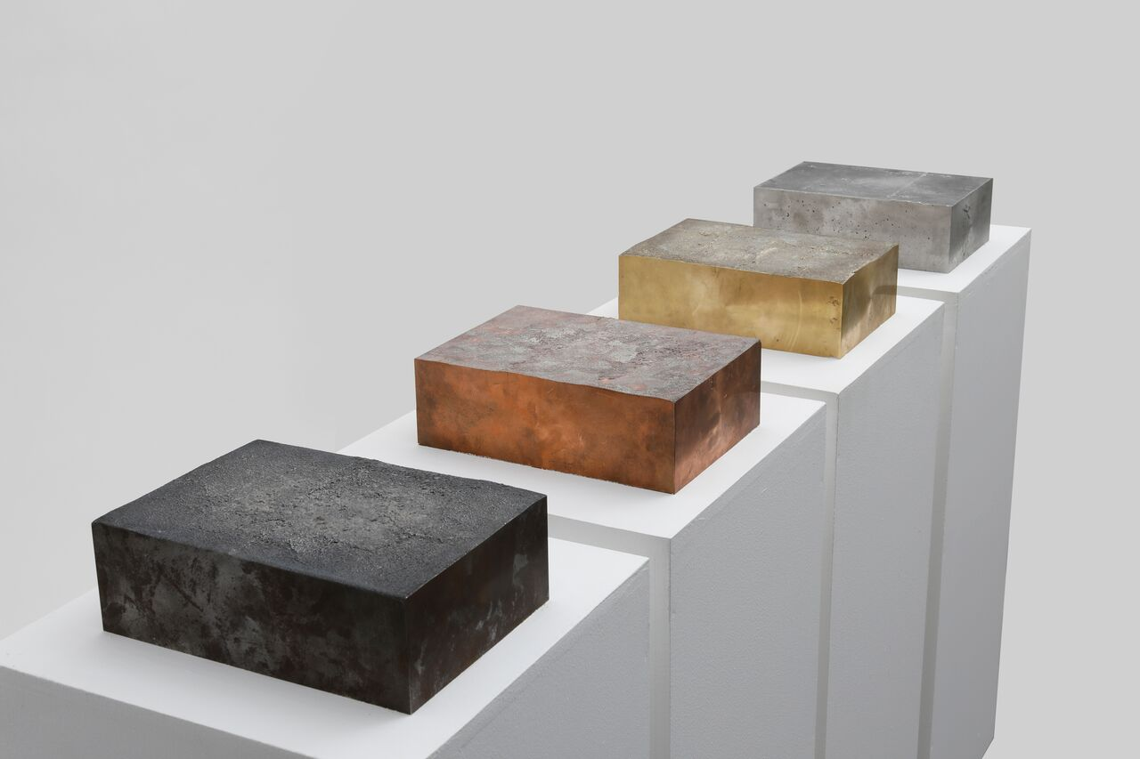 Sheikha Al Mazrou, Cast Documents, 2018. Brass, copper, iron and aluminum, 21.0 x 29.7 x 10 cm each. Commissioned by Sharjah Art Foundation. Courtesy of the artist.