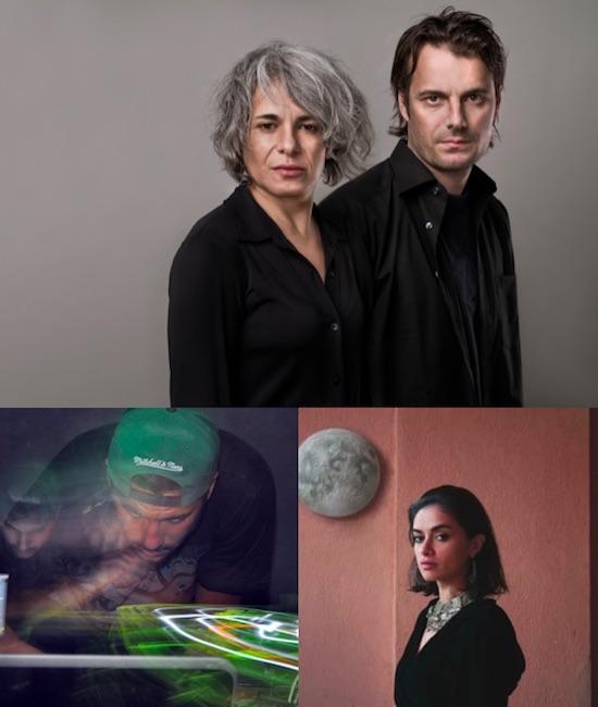 Top: Kamilya Jubran and Werner Hasler (photo by Reto Andreoli) Bottom: $$$TAG$$$ (left), Lujain Rakadh (right)