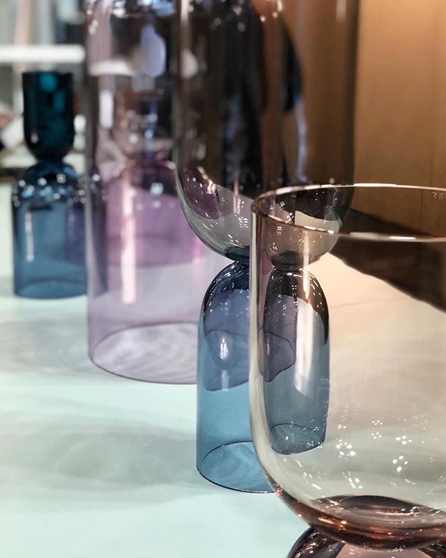 Scouting beautiful things at ICFF in NYC this week 😊 #Repost @atelierathome ・・・ And my obsession with beautiful glassware continues thanks to @sklostudio  #icff2019 #stunning #color #favoritepalette #glowing #nycxdesign #artisan #inspired #galssware #interiordesiger #designlife