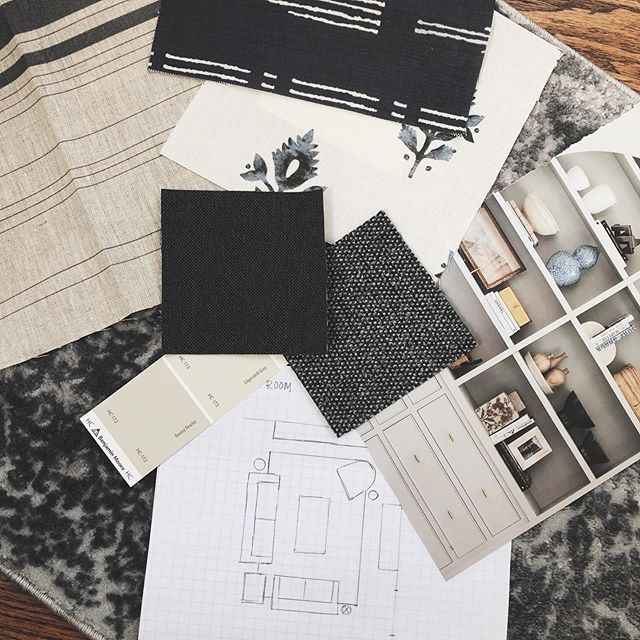 {Chicago} Plans + inspo coming together this morning for a sweet fam's cozy family room ❤️ . . . . . . . . #jocollective #interiordesigner #inspired #designer #forthehome #forthefamily #texture #light #familyroom #chicagodesign #homeinspo #thoughtfuldesign