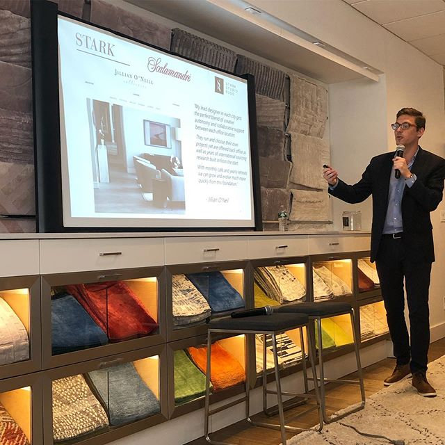 Thank you to Chad Stark or @starkcarpet for highlighting our design firm in your Innovation in Design programming at the D&D Building in NYC.  We love our collaborative company culture that allows us to service clients all over the world 🌎 💥 #greatclients #innovation #entrepreneurs #designfirm #interiordesigners #chicagobusiness #houstonbusiness #londonbusiness #welovewhatwedo #designlife