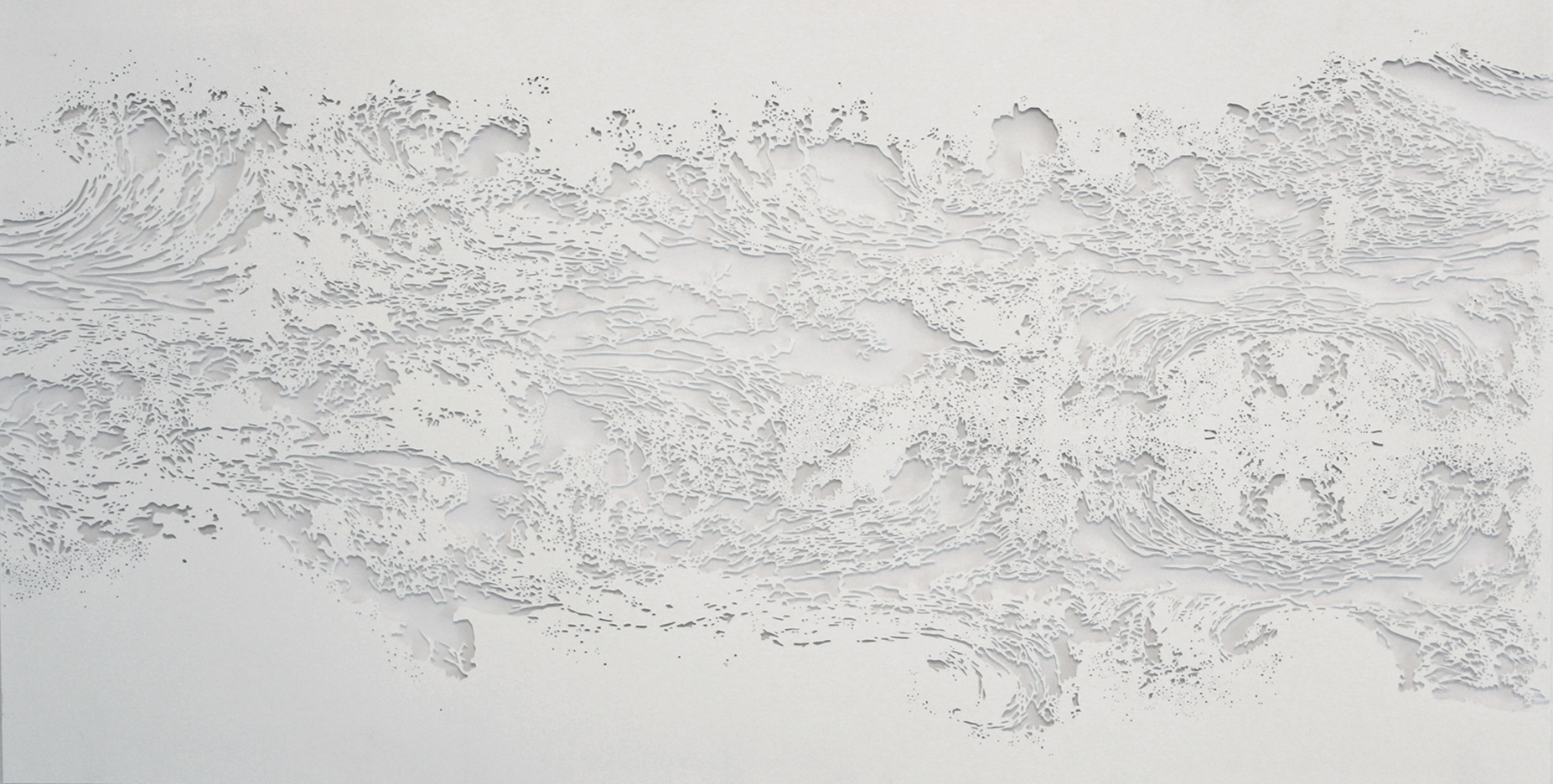 Cap-O,  2015, hand cut paper, 15 X 30 in.