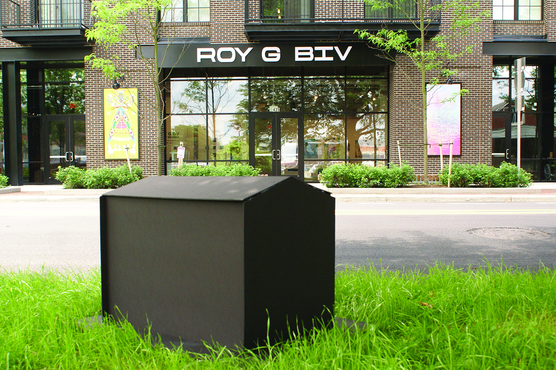 ROY's interactive HOME, seen outside the gallery