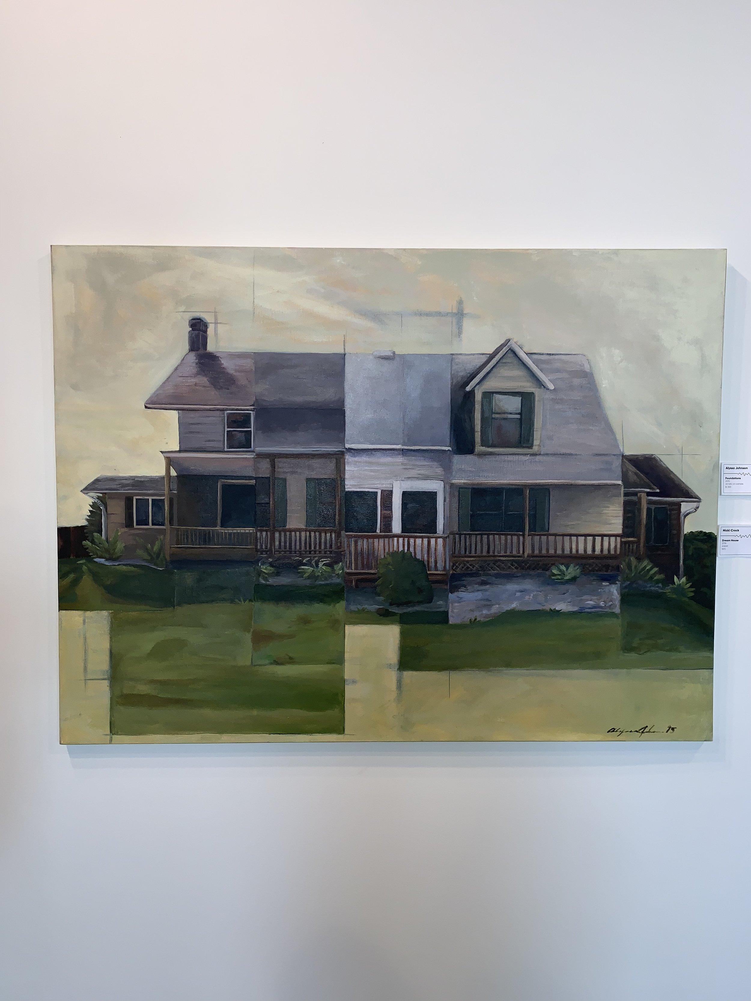Alyssa Johnson,  Foundations , 2015, acrylic on canvas