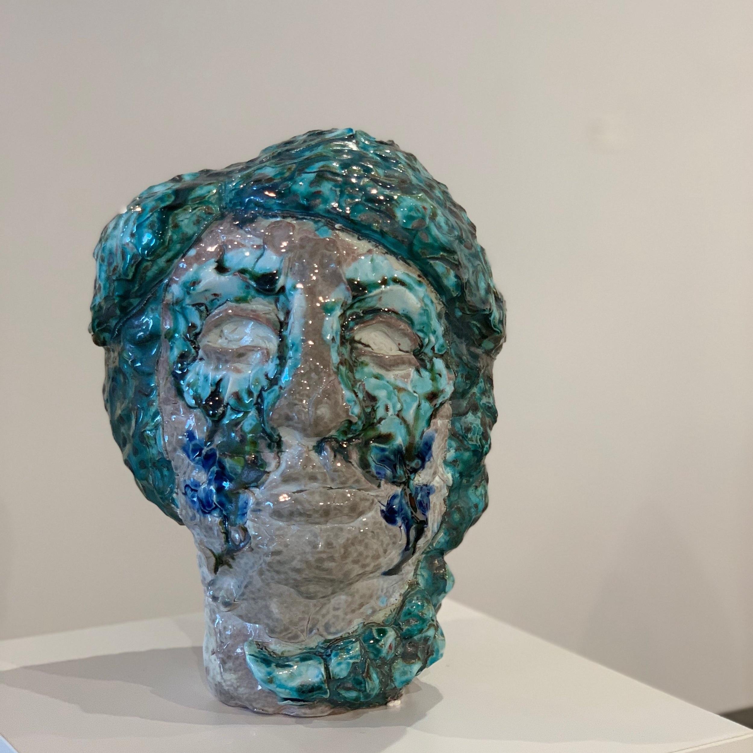 Raven Halfmoon,  Blue for You , 2017, stoneware, glaze, $1200