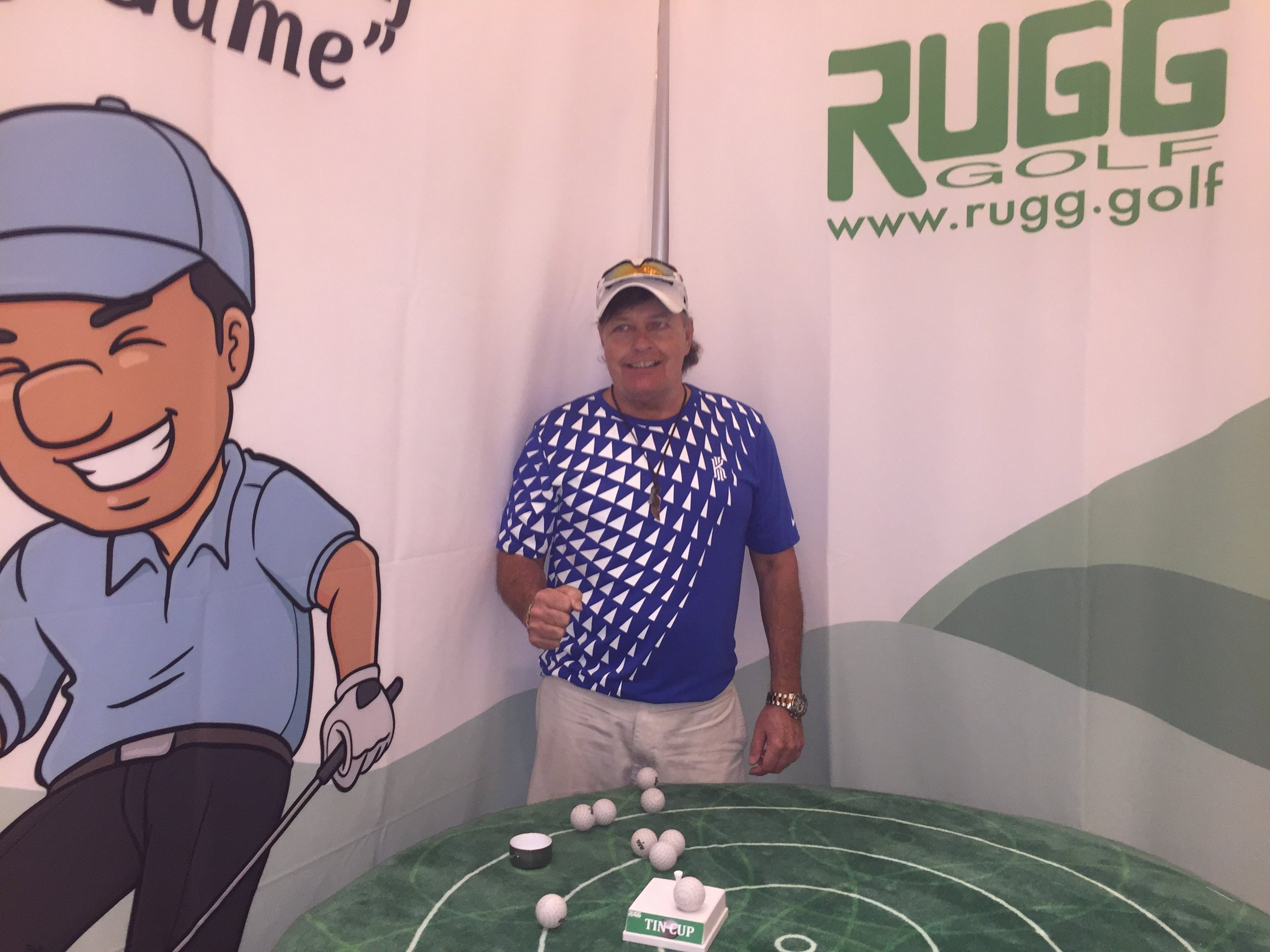 Tommy scored one Tin Cup with two more shots in the -2 Eagle ring, and put the remaining six shots in a tight cluster on this tough tabletop 7 yard hole.