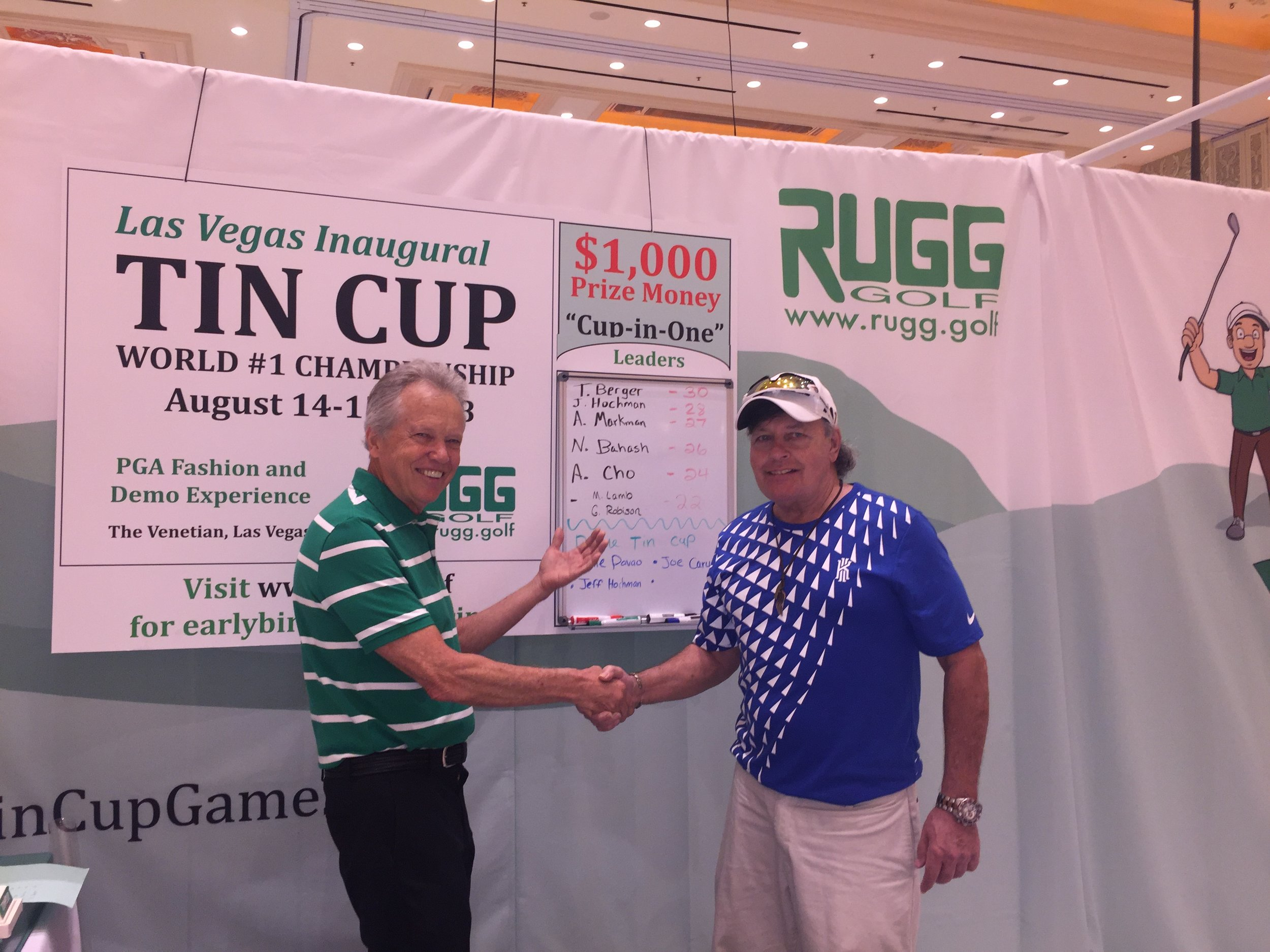 The Champion: Tin Cup World #1 Tommy Berger.