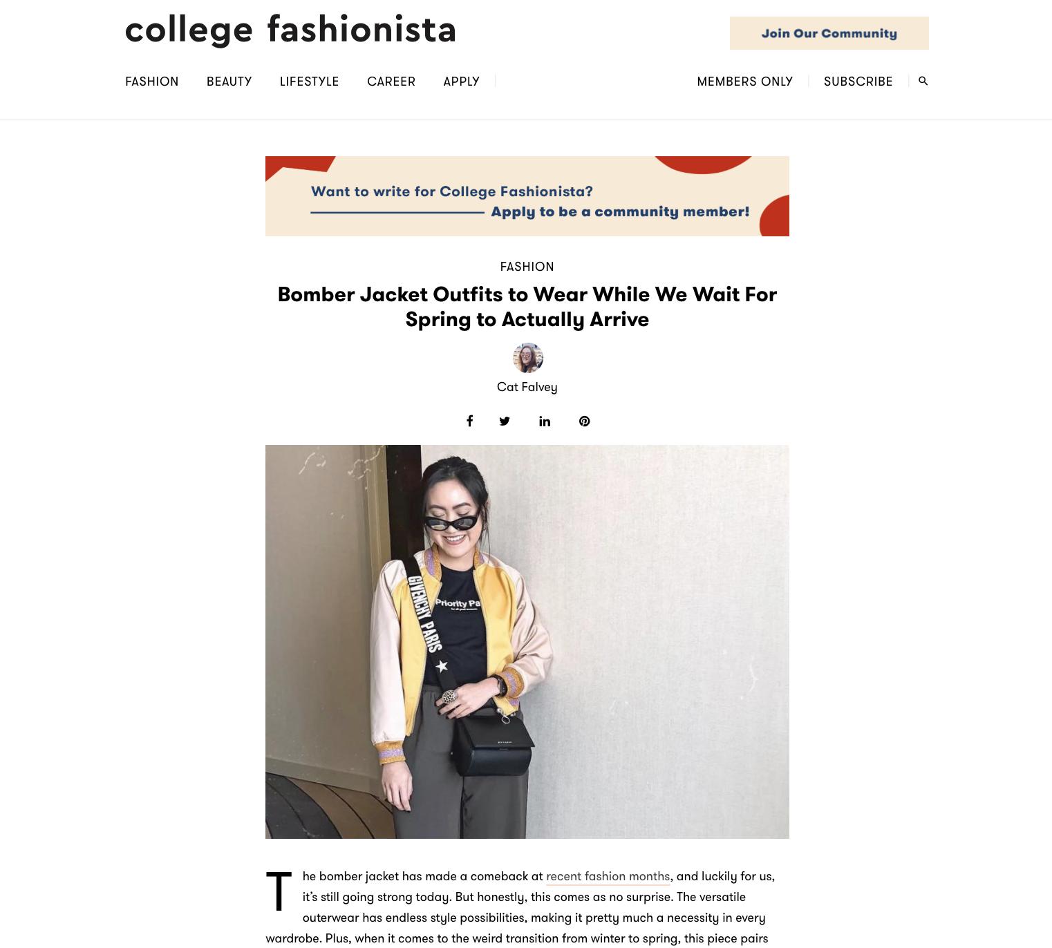 Read more on  College Fashionista