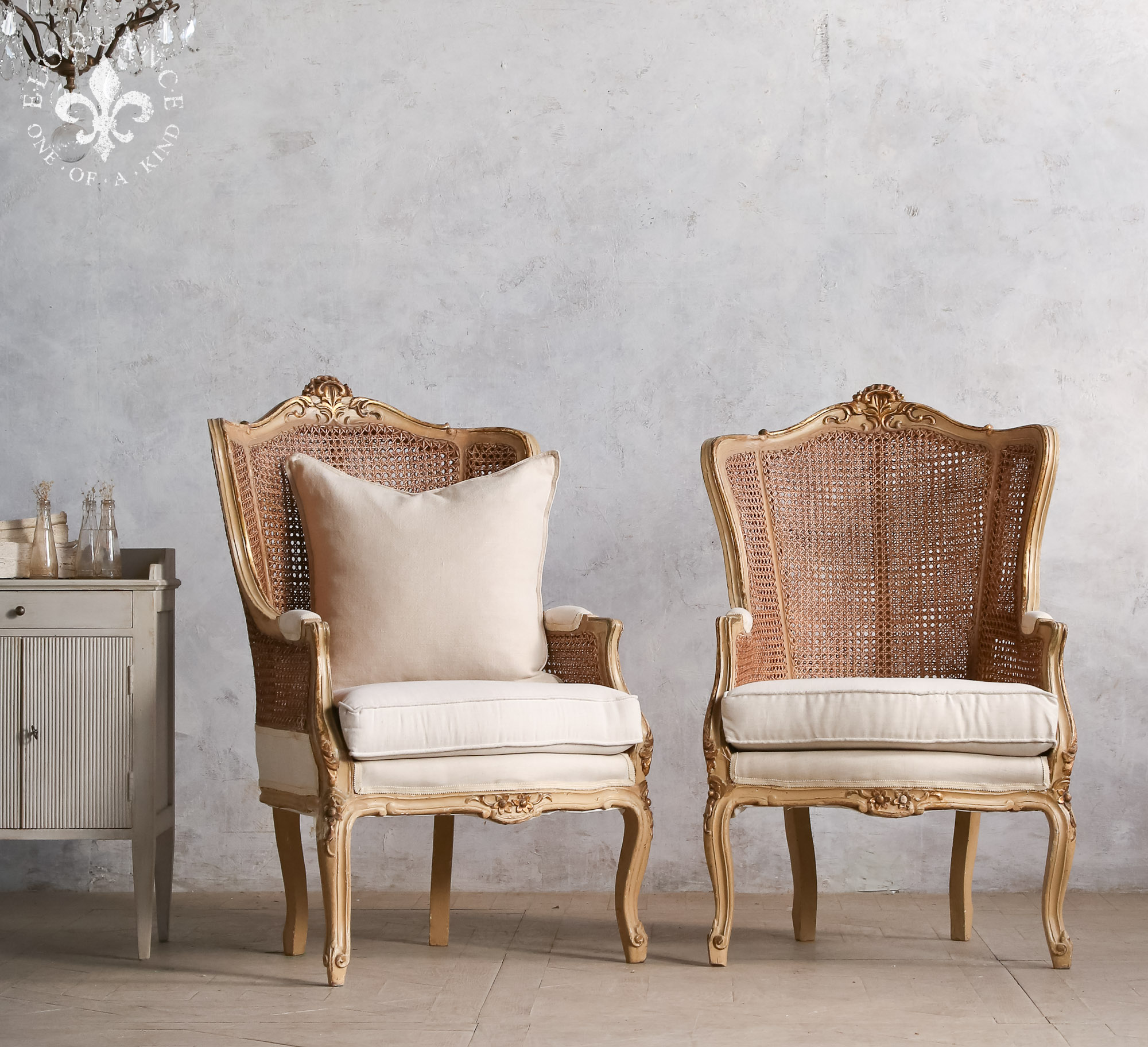 Cane back chairs Vintage France.jpg
