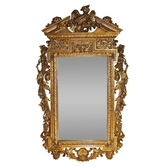 Eagle Mirror Gold Gilt Finish JI.jpg