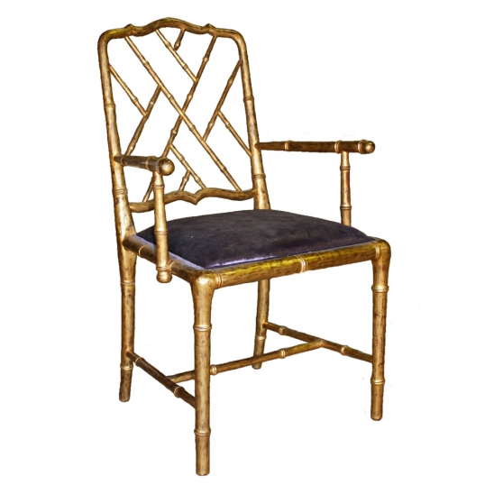 Gold Bamboo Chair with purple velvet upholstry.jpg