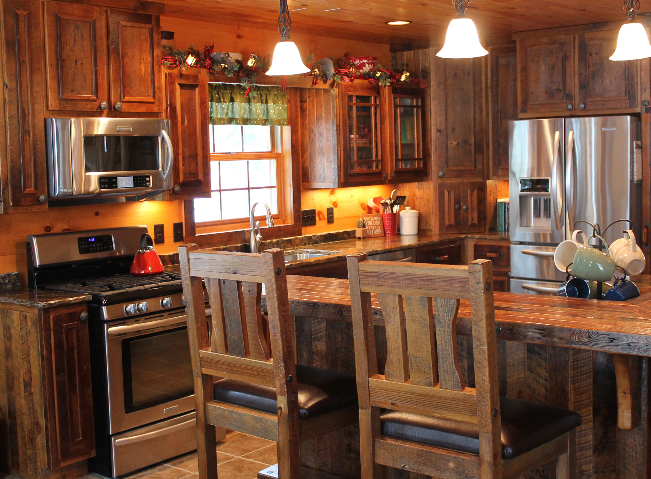 Roughing It In Style - Reclaimed Barnwood Kitchen Cabinets (3).JPG