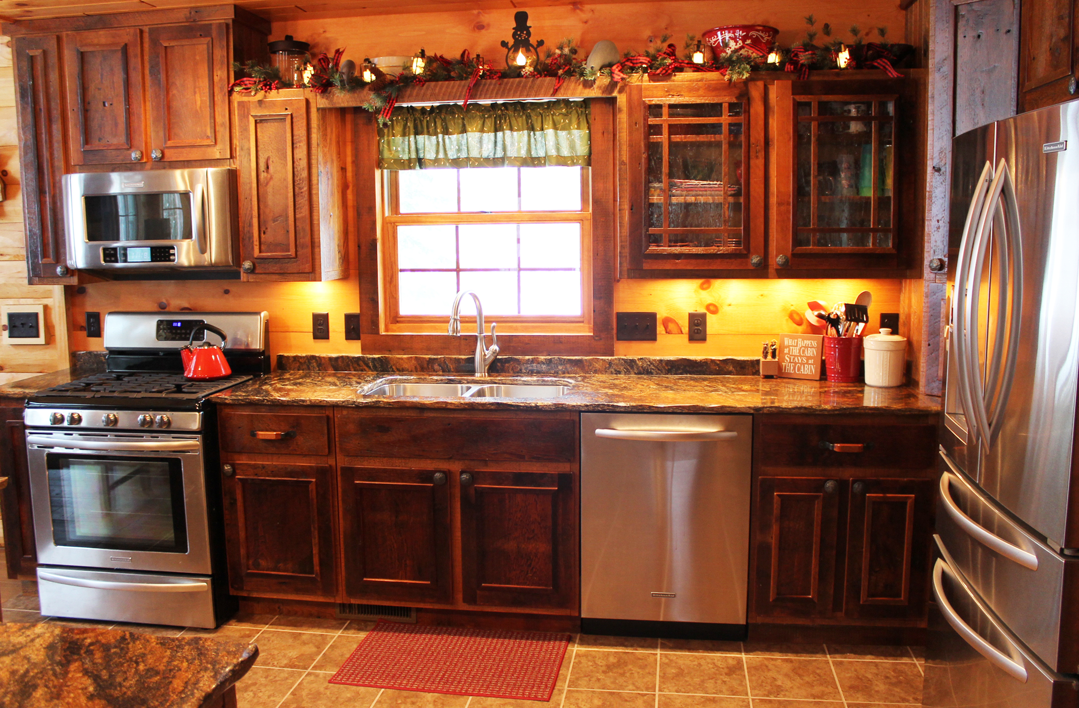 Roughing It In Style - Reclaimed Barnwood Kitchen Cabinets (6).JPG