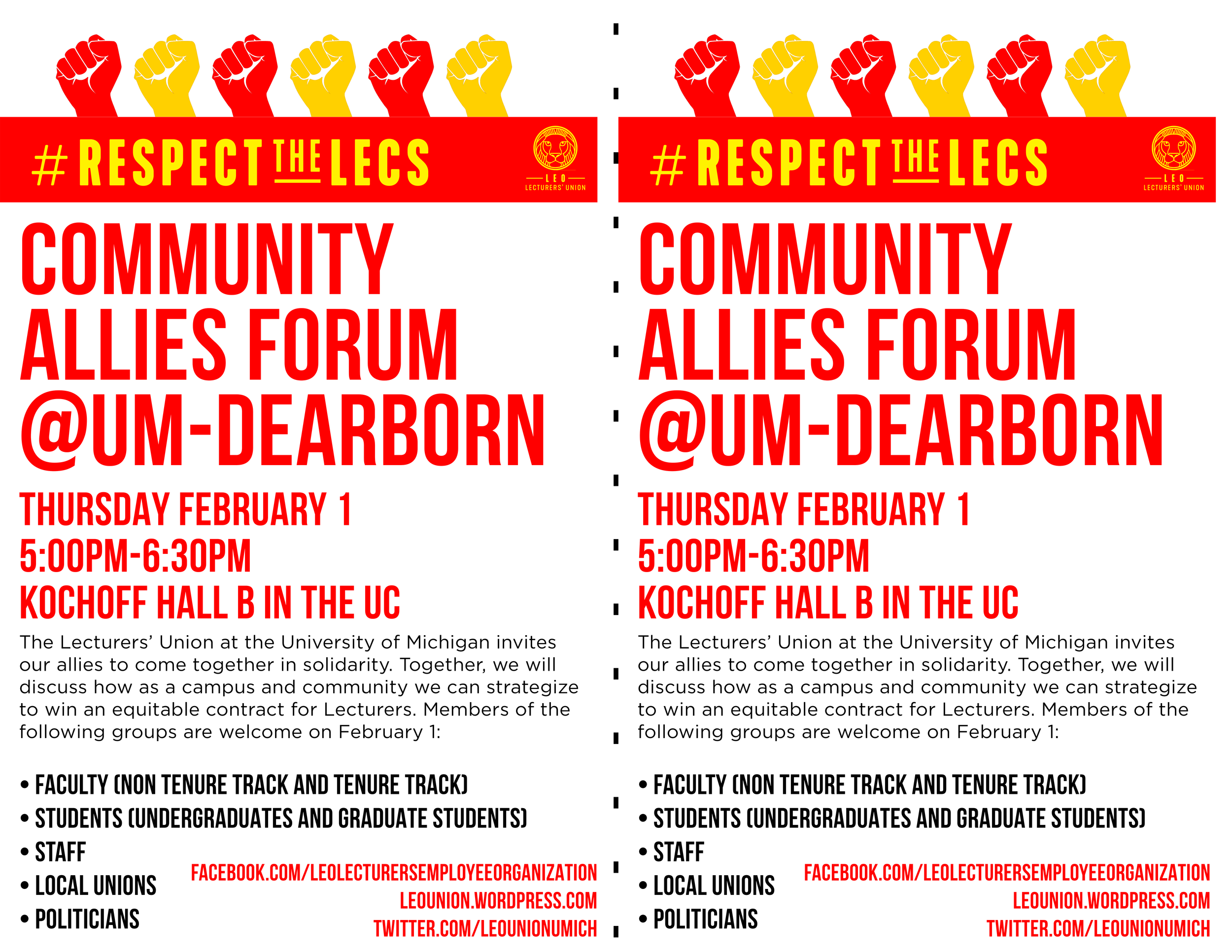 Dearborn Community Forum Flier