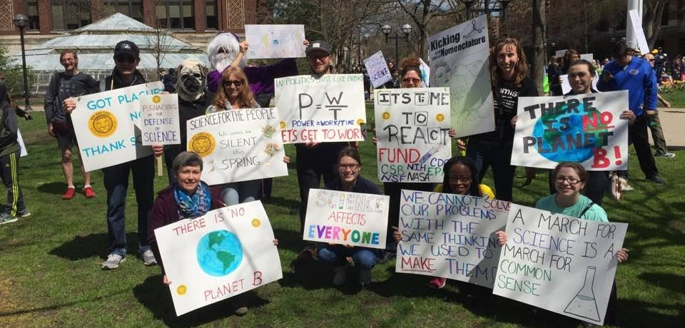 Lecturers at the People's March for Science