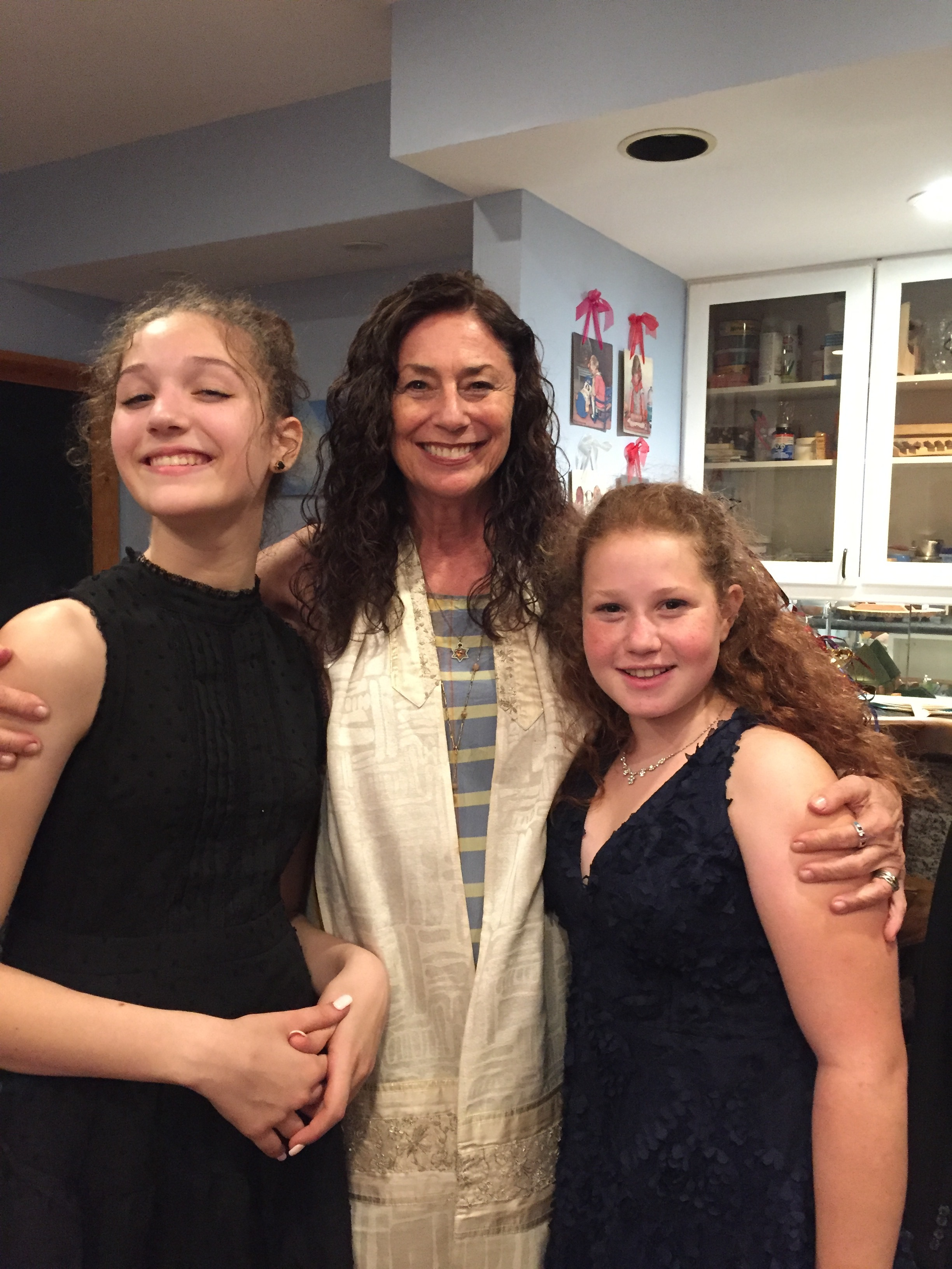 So proud of my two young ladies who became  Bat Mitzvah together in shared ceremony.