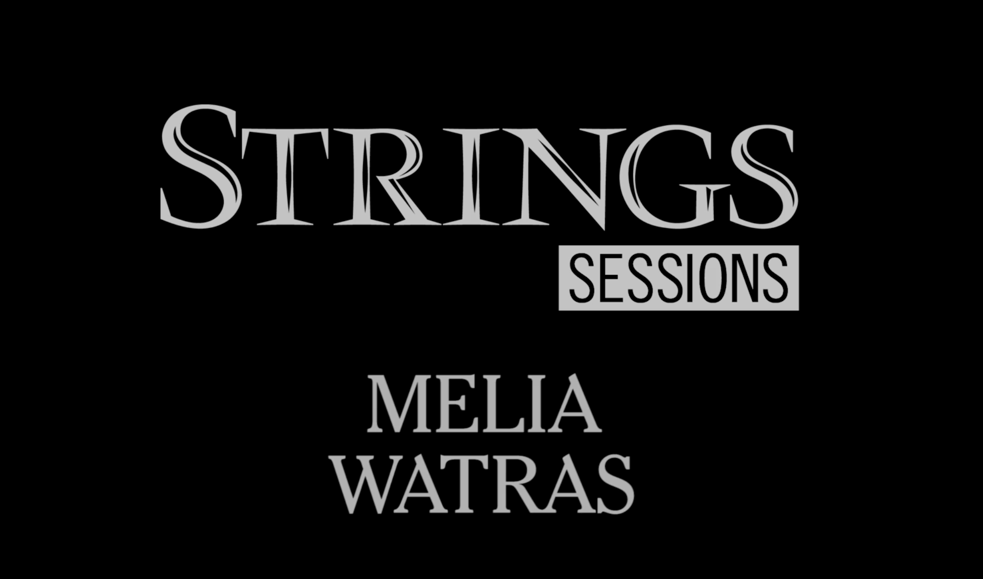 Strings Sessions presents Melia Watras and Michael Jinsoo Lim Violist Melia Watras and violinist Michael Jinsoo Lim stop by the Strings studio to perform works by Melia Watras and Atar Arad: Watras: Lament (2016); Watras: Luminous Points (2014); Arad: Esther (2007). Recorded live at Strings studio, Richmond, CA; released on June 9, 2017. Audio/ Video Production by Joey Lusterman, Hugh O'Connor, Stephanie Powell, Megan Westberg and Olivia Wise.