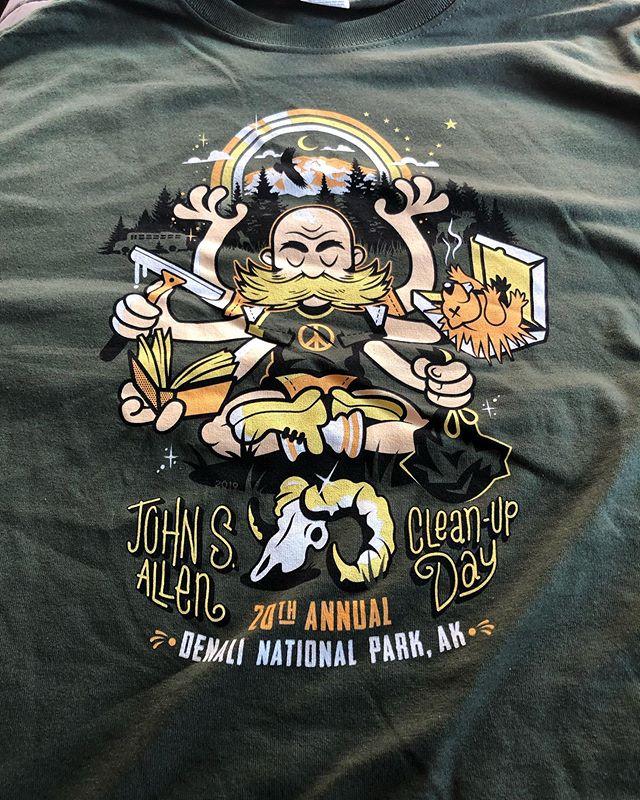 My first ever John Allen Cleanup Day shirt. #denalinationalpark #denali #dontfeedthelandfills #alaska