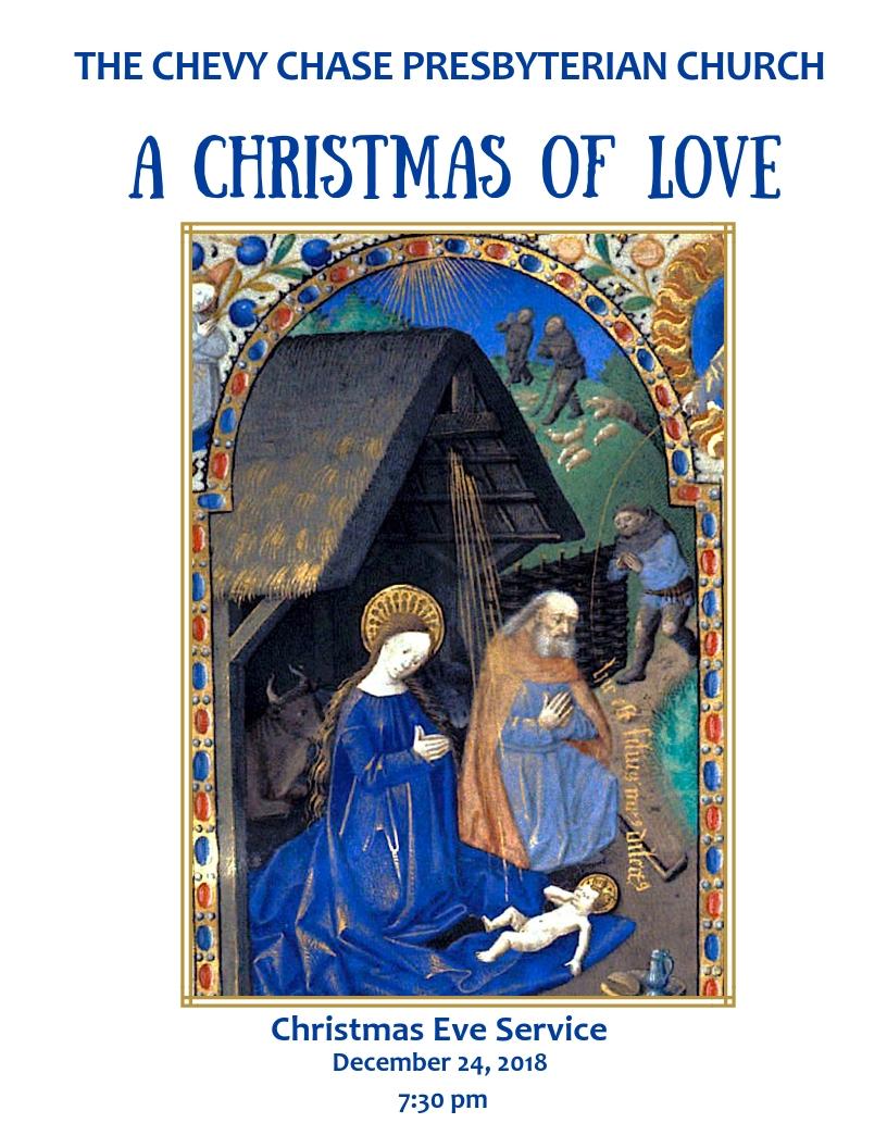 CHRISTMAS EVE 2018   7:30 pm Lessons & Carols    10:00 pm Lessons & Carols