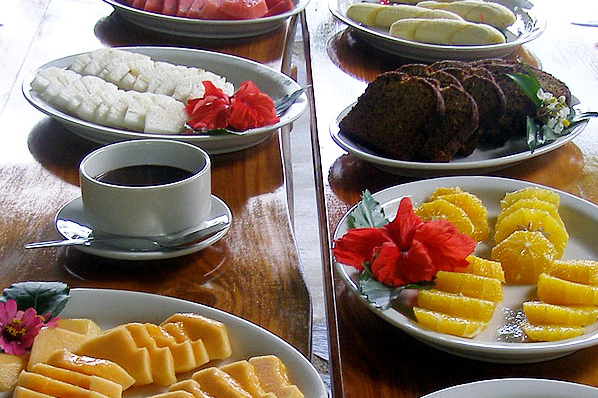 After touring the farm, sample the homemade chocolate fondue