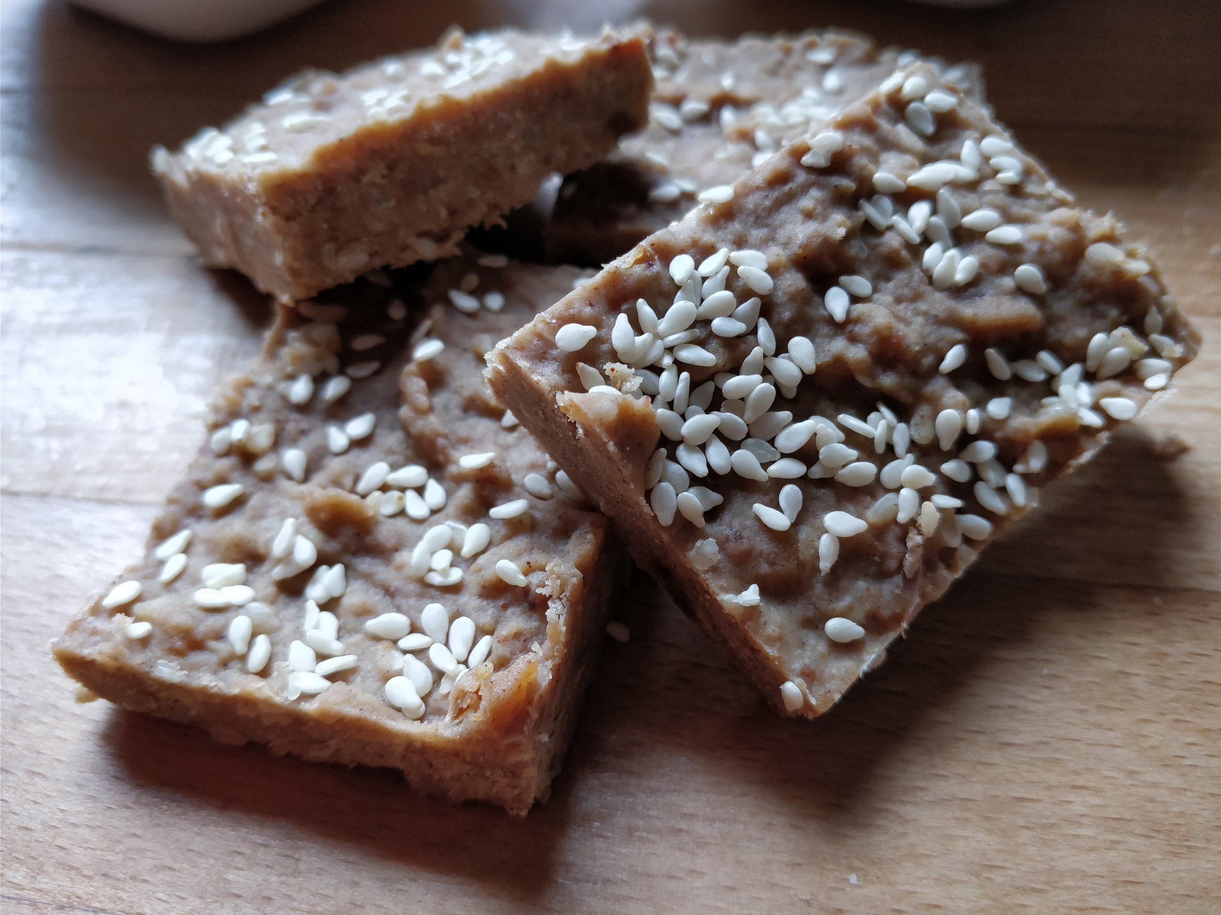Lentil, date, cashew nut energy bars. Toddler snacks, kid treats, healthy, dairy free, cmpa recipe