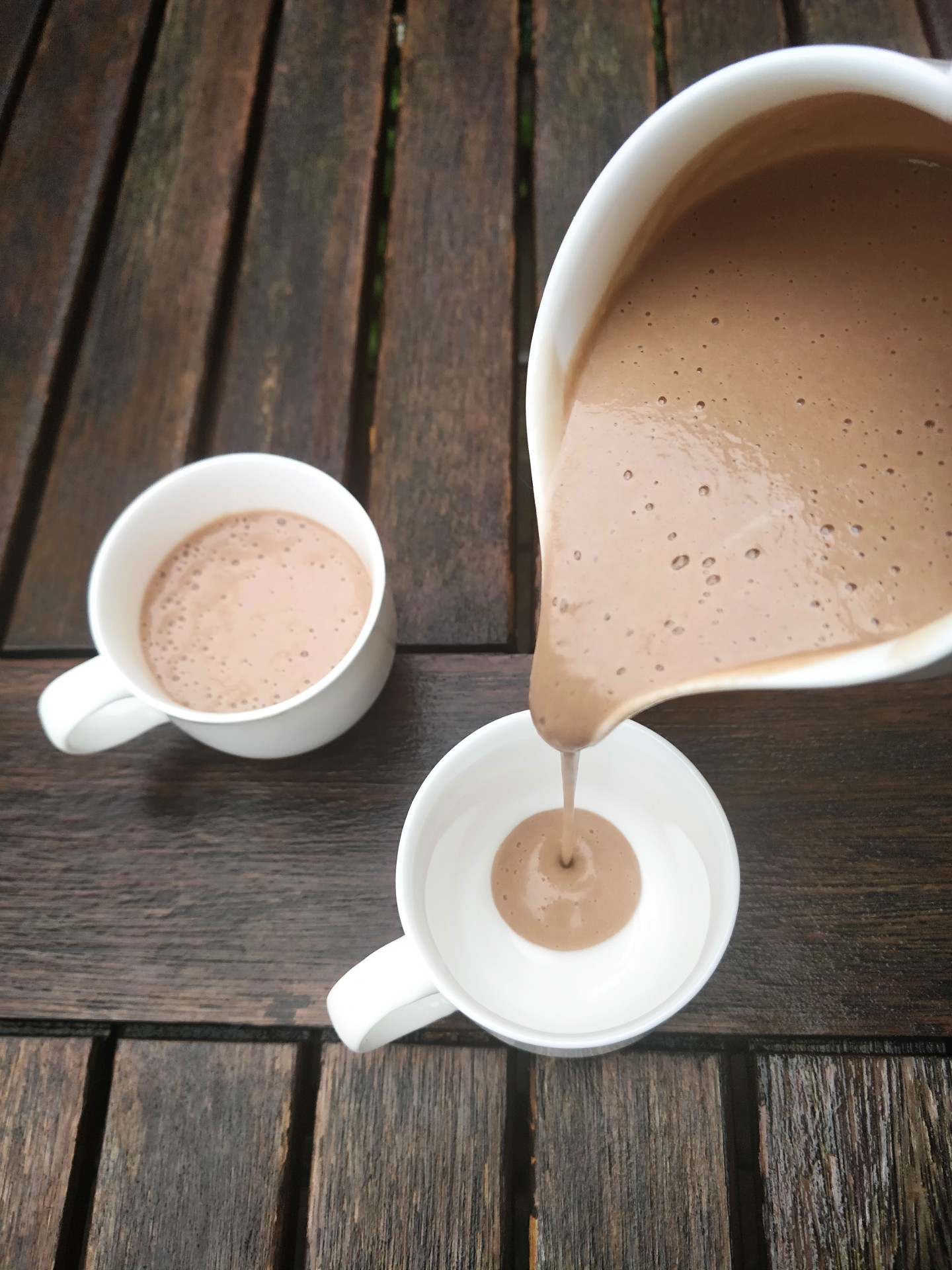 Healthy, dairy free hot chocolate
