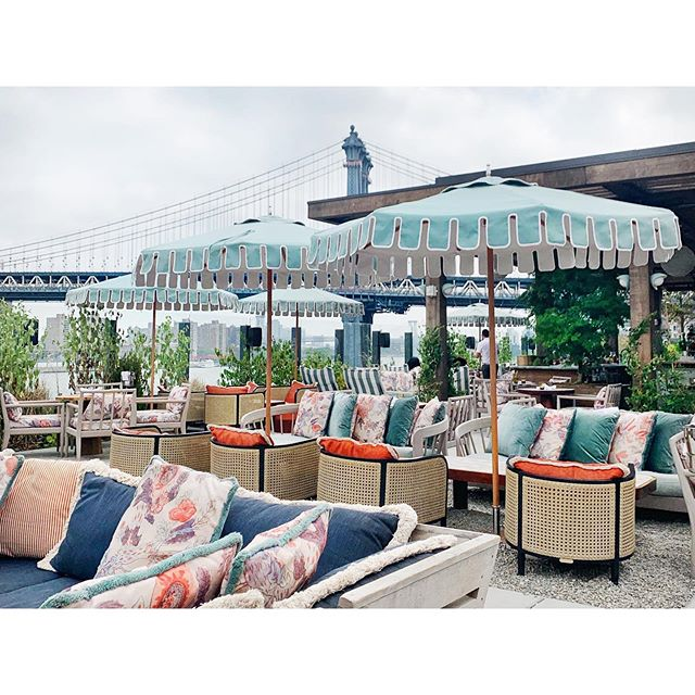 """What a fabulous 4th of July in Brooklyn! Topped it off this morning with brunch at one of the most beautiful interior spaces in Dumbo. I wish I could share more pictures, but alas """"no pics allowed"""". I managed to get one, but it was nice to just sit and enjoy all the details. Happy weekend everyone! 💕"""